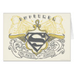 Superman Stylized | Yellow Drawn Trains Logo Card