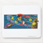 Superman & Supergirl Flying Mouse Pad