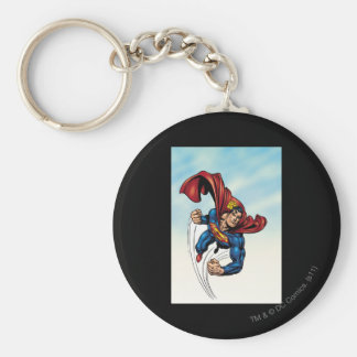 Superman swift through the air keychain