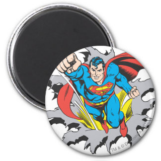 Superman Tears Thru 2 Inch Round Magnet