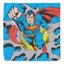 Superman Tears Thru Bandana