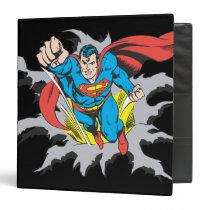 Superman Tears Thru Binder