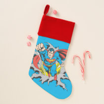 Superman Tears Thru Christmas Stocking