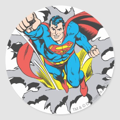 Superman s shield classic logo classic round sticker zazzle com