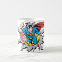 Superman Tears Thru Coffee Mug