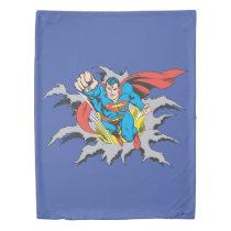 Superman Tears Thru Duvet Cover