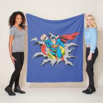 Superman Tears Thru Fleece Blanket