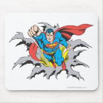 Superman Tears Thru Mouse Pad