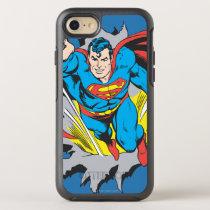 Superman Tears Thru OtterBox Symmetry iPhone SE/8/7 Case