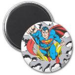 Superman Tears Thru Refrigerator Magnets