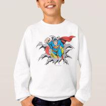 Superman Tears Thru Sweatshirt