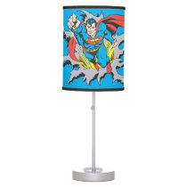 Superman Tears Thru Table Lamp