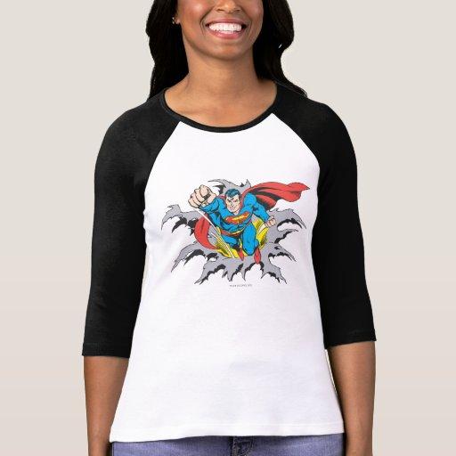 Superman Tears Thru Tshirts