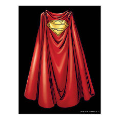 Superman - The Cape Postcard at Zazzle