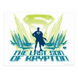 Superman The last Son of Krypton Postcard