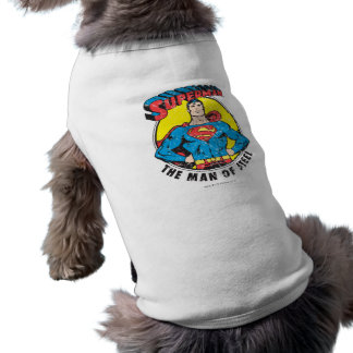 Superman The Man of Steel Doggie T Shirt