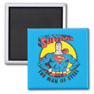 Superman The Man of Steel 2 Inch Square Magnet