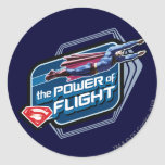 Superman The Power of Flight Classic Round Sticker