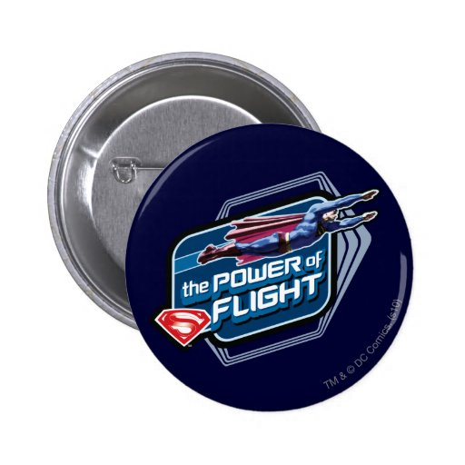 Superman The Power of Flight Pinback Button