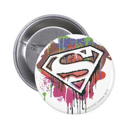 Superman - Twisted Innocence Logo Pins