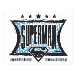 Superman Unrivaled, Unmatched Postcard