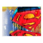 Superman Urban Spraypaint Postcard