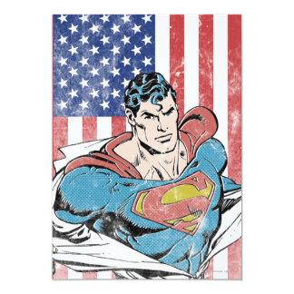 Superman & US Flag Card