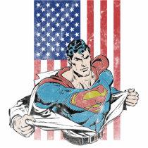 superman, super man, us flag, dc comics, clark kent, superman changing, superman suit, Photo Sculpture with custom graphic design