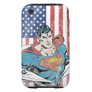 Superman & US Flag iPhone 3 Tough Cover