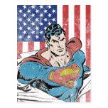 Superman & US Flag Postcards