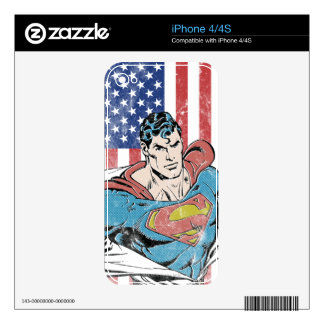 Superman & US Flag Decal For iPhone 4