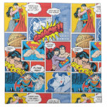 Superman Valentine's Day | Comic Book Collage Cloth Napkin