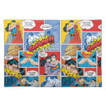 Superman Valentine's Day | Comic Book Collage Cloth Placemat