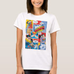 Superman Valentine's Day   Comic Book Collage T-Shirt