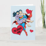 Superman Valentine's Day | I'll Catch You Holiday Card