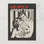 Superman Valentine's Day | We Are A Great Team Holiday Postcard
