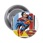 Superman with colorful background pinback buttons