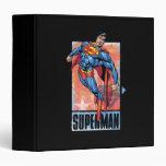 Superman with dark border 3 ring binder