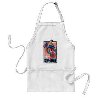 Superman with dark border adult apron