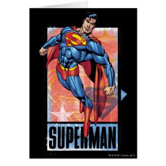 Superman with dark border card