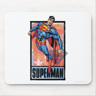 Superman with dark border mouse pad