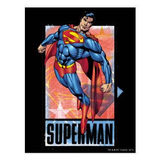 Superman with dark border postcard