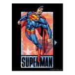 Superman with dark border postcards