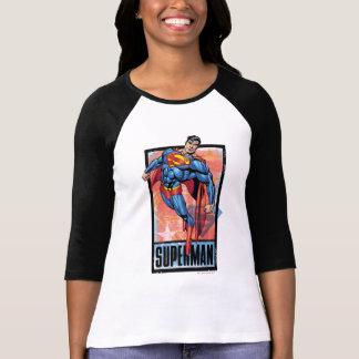 Superman with dark border t-shirt