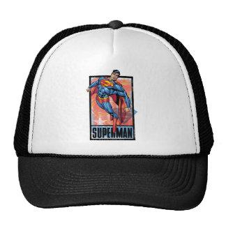 Superman with dark border trucker hat