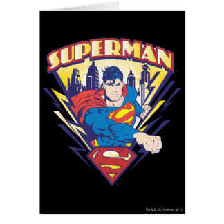 Superman with Electricity Card