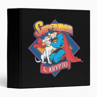 Superman with Krypto 3 Ring Binder