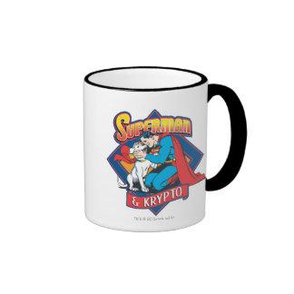 Superman with Krypto Ringer Mug