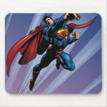 Superman with light streaks mouse pad