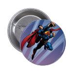 Superman with light streaks pin